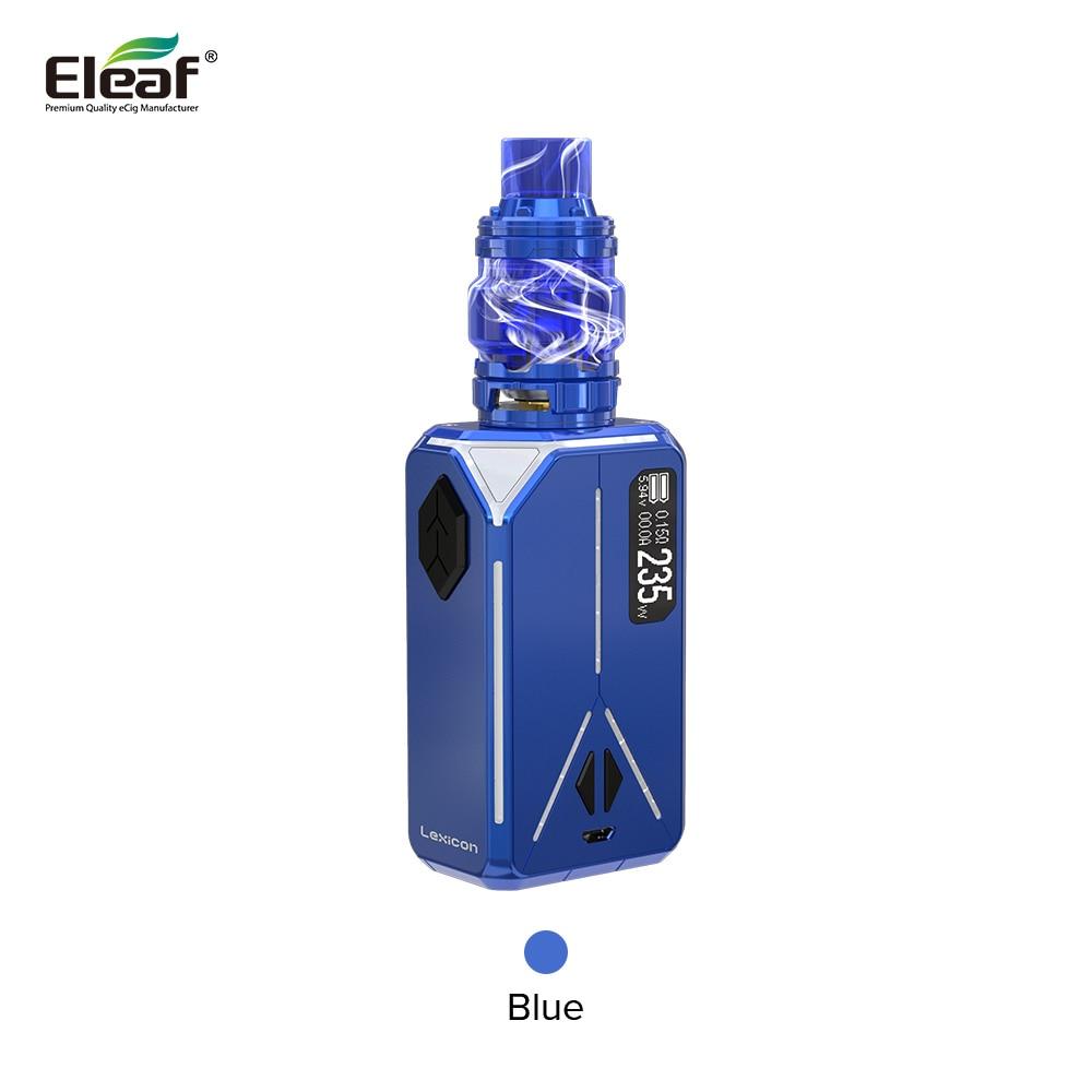 Léxico ELLO Duro Pmma 6.5 ml Kit Eleaf originais Com 235 W Caixa MOD Léxico Apto Para Dual 18650 Tanque HW-Net e HW-Multiehole Bobina