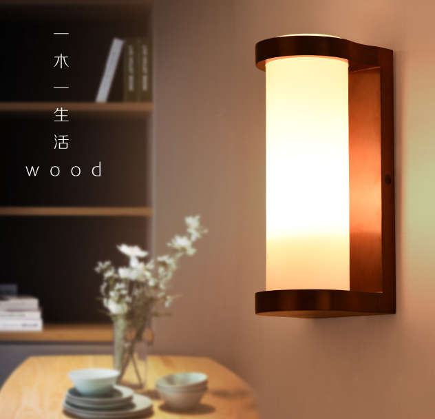 chinese style red wood frame wall lamps rustic white glass lampshade e27 led lamp for porchstairspavilionbedroom