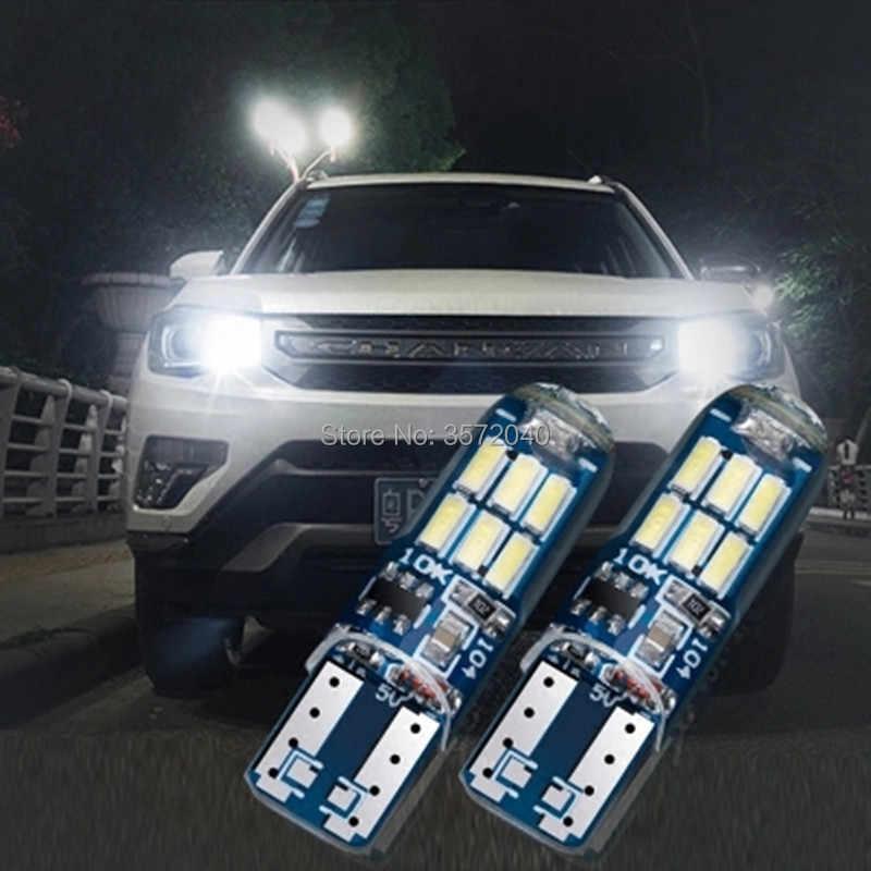จัดส่งฟรี 2 ชิ้น T10 W5W LED สีขาวสีแดงสีน้ำเงิน Strobe หลอดไฟสำหรับ KIA Sportage Soul EV Soul sorento Sedona Koup รถจัดแต่งทรงผม