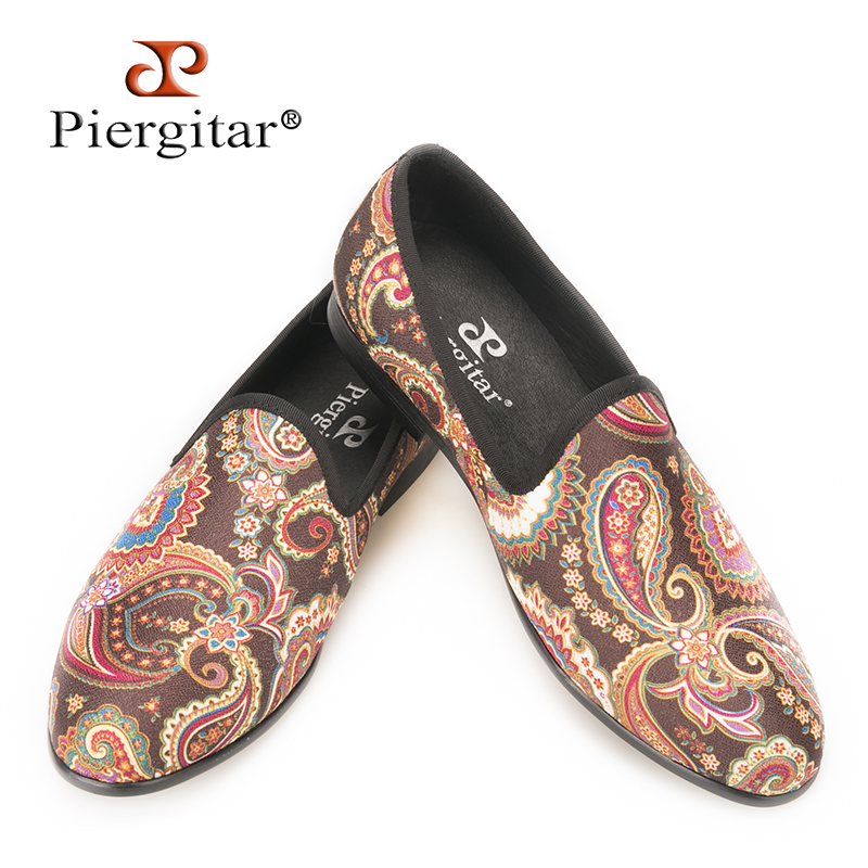 Piergitar 2017 special handcrafted cashew flowers designs men canvas shoes party and prom men's loafers Fashion smoking slippers arupkumar chakrabartty livelihood scope analysis cashew