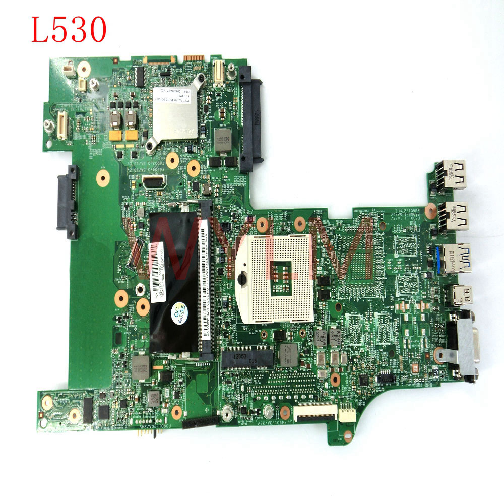 free shipping L530 HM76 DDR3 mainboard For Lenovo ThinkPad L530 laptop motherboard 100% Tested