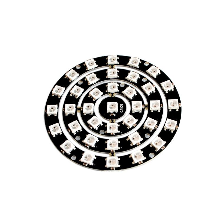 Electronic Components & Supplies 10pcs/lot 37 Bit Rgb Led Ring 1/18/12/37 Bit Ws2812 5050 Rgb Led With Integrated Driver Drop Attractive And Durable
