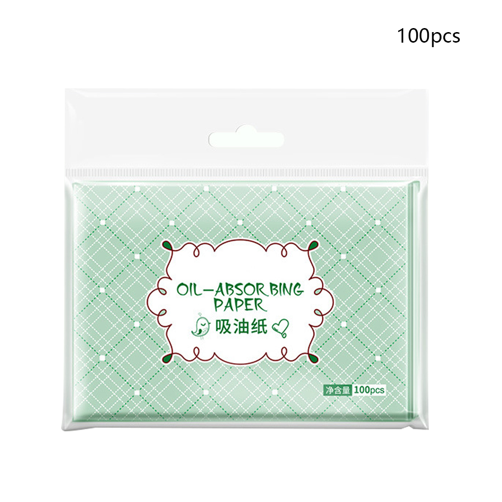 100Pcs Make Up Refreshing Mild Comfortable Professional Balance Grease Green Tea Smell Oil Absorbing Paper Blotting Facial Clean Karachi
