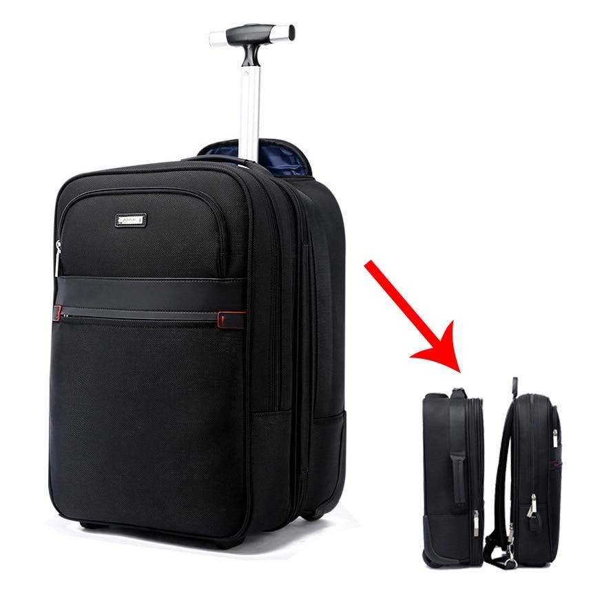 Aktiv Multifunktions Reise Roll Gepäck Abnehmbare Koffer Tasche Set Schulter Usb Koffer Räder 18 Zoll Kabine Trolley Laptop Tasche