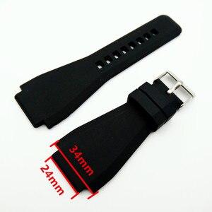 Ремешок для часов, изогнутый силиконовый ремешок для часов BR01 BR03, 34*24 мм