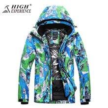 Спорт на открытом воздухе сноуборд куртки мужчины водонепроницаемый Ветрозащитный Воздухопроницаемый держать теплое пальто куртки