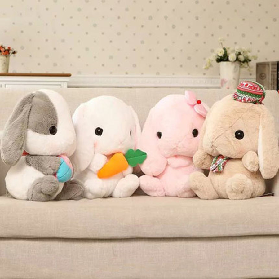 Plush Rabbit Toy Plush Toys Dolls Kawaii Gift Peluches De Animales Cute Animal Soft Stuffed Toys Happy Birthday Presents 70C0028