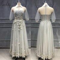 Новое высокое качество тяжелая ручная работа 3D Цветы бусины вечернее платье для женщин вечернее платье халат de soiree