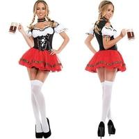 On Sale Women Sexy Bar Maid Beer Girl German Bavarian Oktoberfest Festival Fancy Dress Cosplay Clothing Halloween Costume