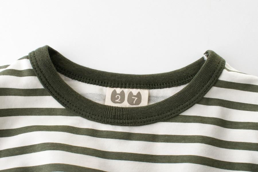 Kurzarm T-Shirts für Jungen Mädchen Grün / Schwarz / Braun - Kinderkleidung - Foto 4