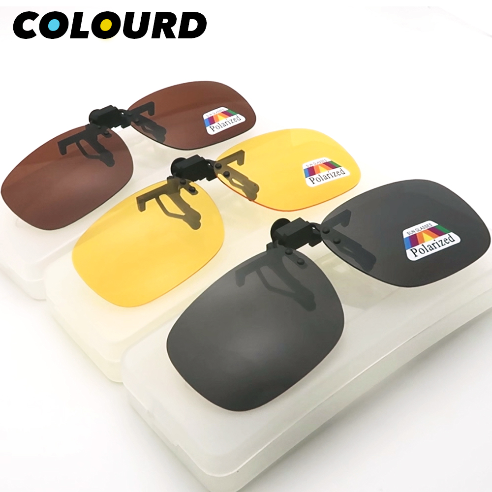 bb52980438 Cheap Polarizada hombres negro Clip en gafas de sol visión de noche, gafas  de sol