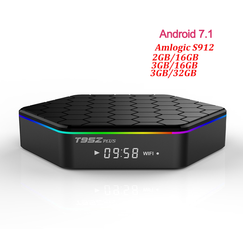 T95z Plus Amlogic S912 Octa Core Android 7.1 TV Box 3Gb DDR3 Ram 32GB Rom 4K 2.4/5G WIFI H.265 Media player PK HTv Mag 254 Box 5