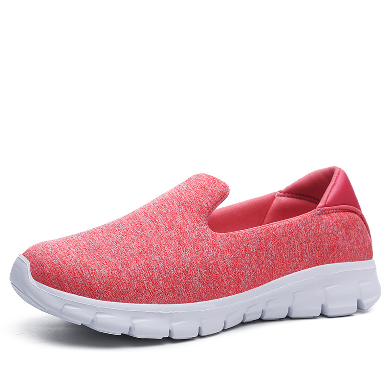 Plus Size Women Shoes Sneakers Flat Platform Shoes Casual Loafers Air Mesh Breathable Non slip Soft Bottom Student Dance Cozy in Women 39 s Flats from Shoes