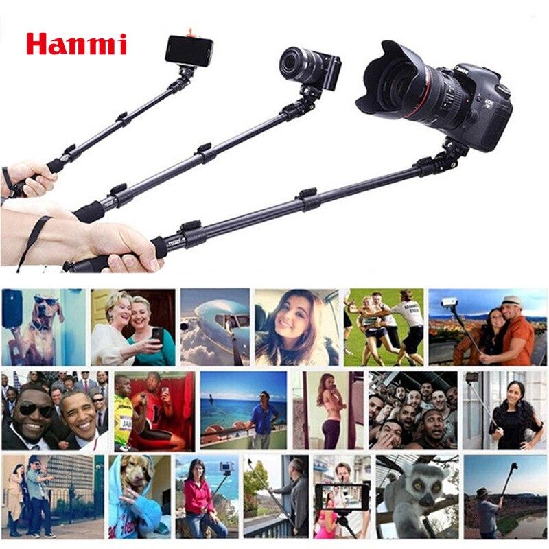Top Quality YunTeng 088 Monopé Para Gopro Selfie Vara Monopé Tripé + Suporte Do Telefone Para o iphone Gopro Camera Herói HD + frete Grátis