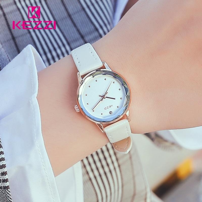 KEZZI montre femme Mały zegarek Moda Diamentowy zegar kobiet zegarki - Zegarki damskie - Zdjęcie 3