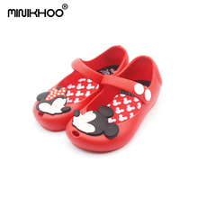 2016 Mini Melissa Shoes For Girls Sandals Cheap High Quality Mickey & Minnie Cartoon Kids
