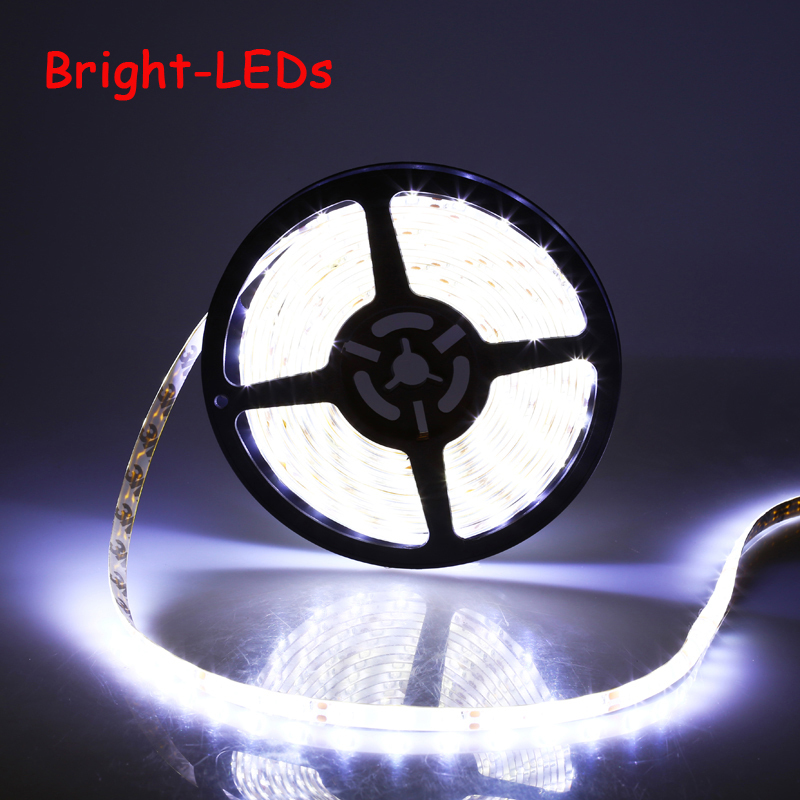 5M 3528 SMD LED Strip Light DC 12V 60LEDs / M nastro decorativo impermeabile interno ed esterno RGB Bianco Blu Rosso Verde Giallo