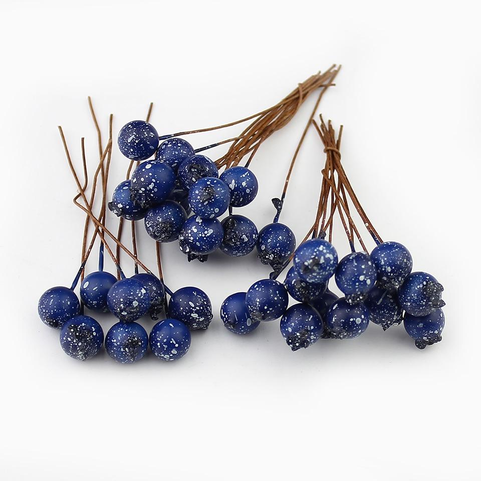 Image 5 - HUADODO 50 sztuk BlueBerry sztuczny pręcik kwiaty sztuczne jagody do scrapbookingu DIY wieniec dekoracjiartificial berriesstamen flowersartificial stamen -