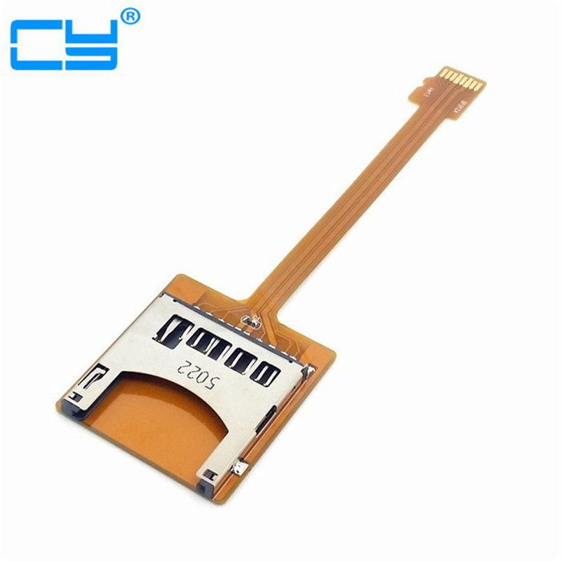 Free Shipping tracking number Micro SD TF Memory Card Kit Male to SD Female Extension Soft Flat FPC Cable Extender 10cm free shipping tracking no 100