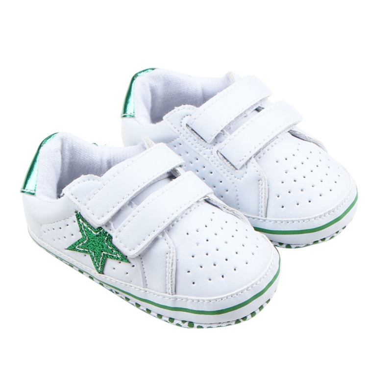 Baby Cack Soft Sole Five-pointed Star Toddler Autumn Casual PU Anti-slip Cute Children Newborn Baby Shoes
