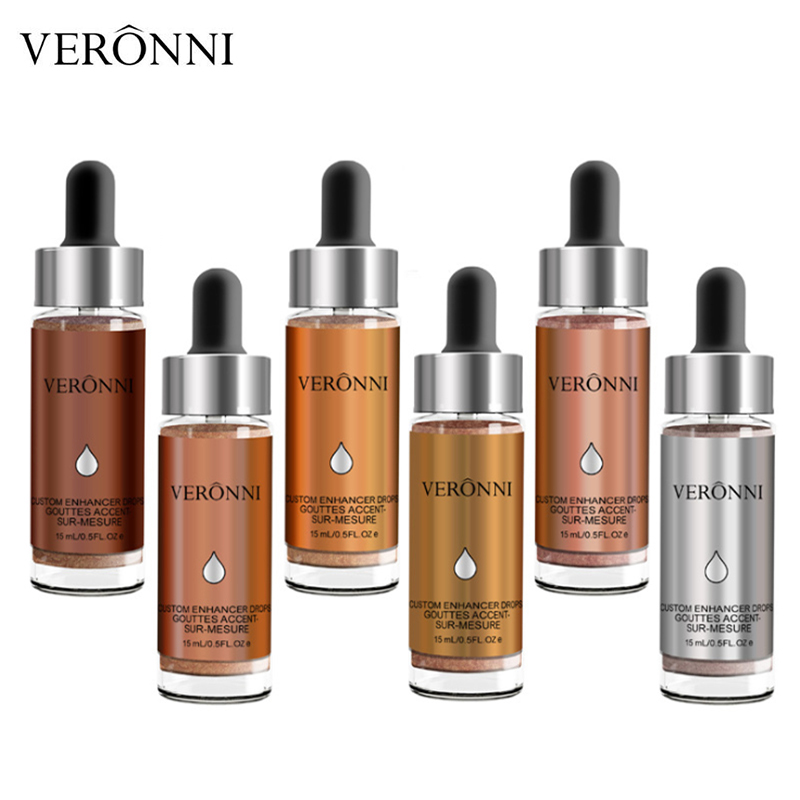 VERONNI Brand Liquid Highlighter Makeup Brighten Shimmer Shiny Face Illuminator Glow Kit Bronzer Contour Cosmetic Highlight Set
