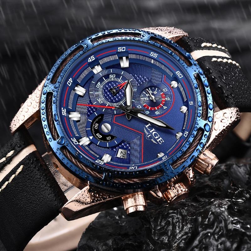 все цены на LIGE Men Quartz Sport Watch Relogio Masculino Chronograph Military Army Watches Clock Men Top Brand Luxury Creative Men Watches