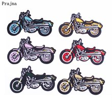 Prajna Biker Patches Colorful Motorcycle Embroidery Iron On Patch For Clothing Punk Gift Fashion Man Sew Cloth Jacket DIY