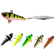 WLDSLURE  Metal Mini VIB With Spoon Fishing Lure 20g Tackle Pin Crankbait Vibration Spinner Sinking Bait