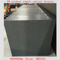 768*768mm P6 outdoor SMD3535 simple cabinet led screen for outside hunge video wall