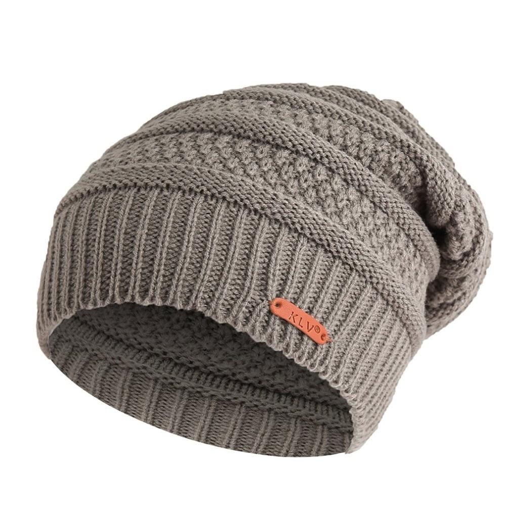 Mixed Color Baggy   Beanies   For Men Winter Cap Women's hip hop Bonnet Skiing Hat Female Soft Woolen Slouchy Knitted Hat caps Xams