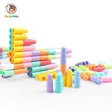 2018 New color Kids Plastic Bullet Building Blocks Educational Toys for Baby Boys and Girls Children Christmas Birthday Gift цены