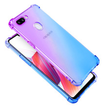 Rainbow Gradient Airbag Case for OPPO Reno F11 Pro R15X Four Corners Schockproof R19 A9 R15 Soft TPU Phone Cover