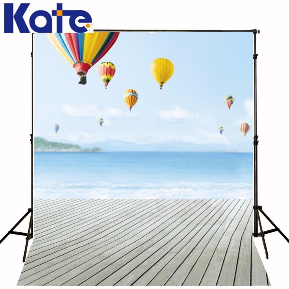 300 Cm * 200 Cm (environ 10Ft * 6.5Ft) Fundo arc-en-ciel ballon à Air chaud Flying3D bébé photographie toile de fond Lk 1715
