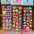 10sheet Baby Girls Cartoon 3D Fruit Smile Love Stickers Best Christmas Gift for Children Kids Develop intelligence Stickers