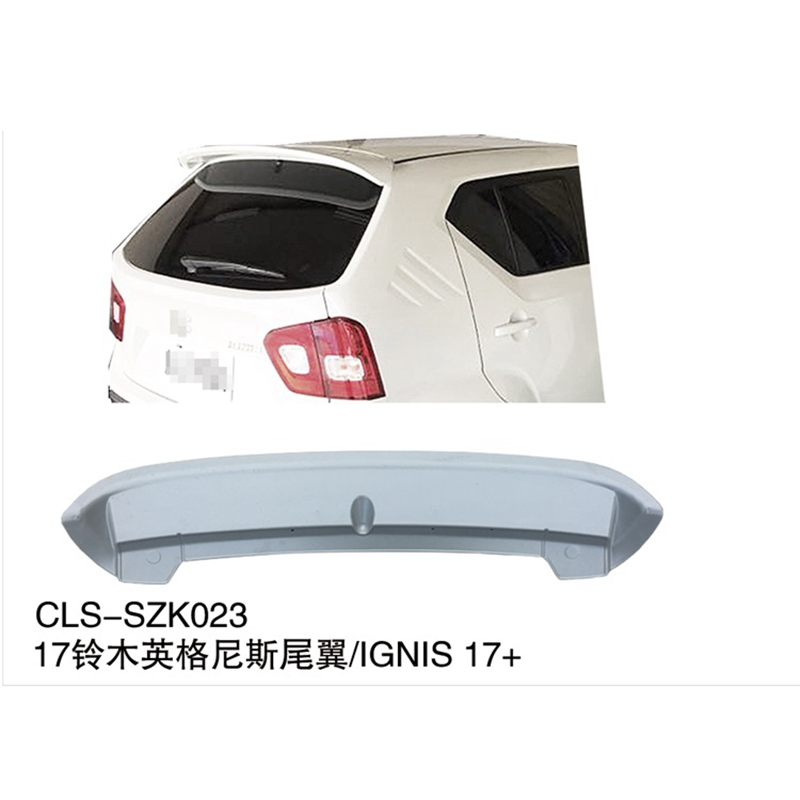 For Suzuki Ignis spoiler real wing ABS material Plastic primer Ignis spoiler 2016 2018