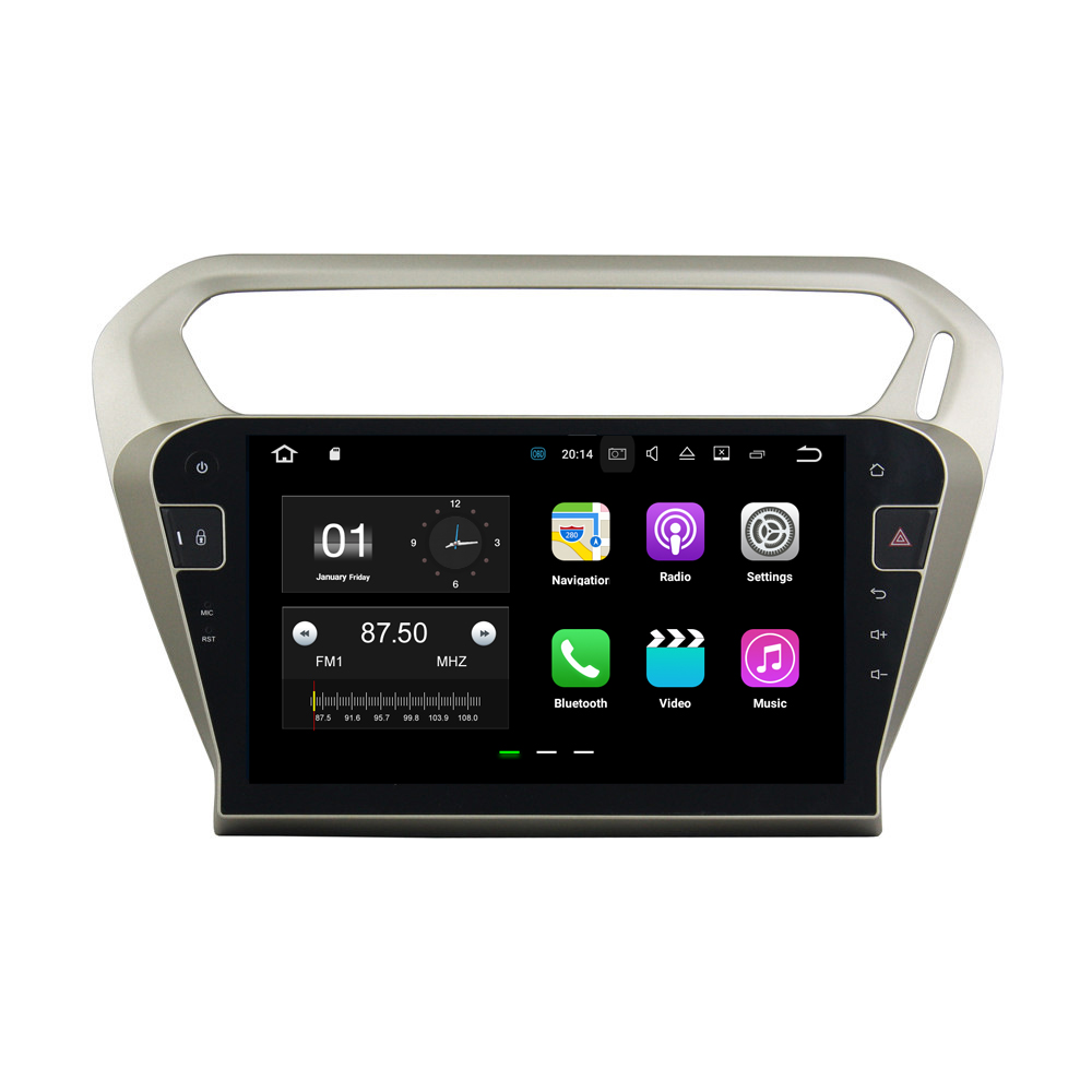 10.1 2G+16G Android 7.1.2 Car Player GPS Navigation Radio Video Player In Dash Multimedia Head Unit For PEUGEOT PG301 2013-2016