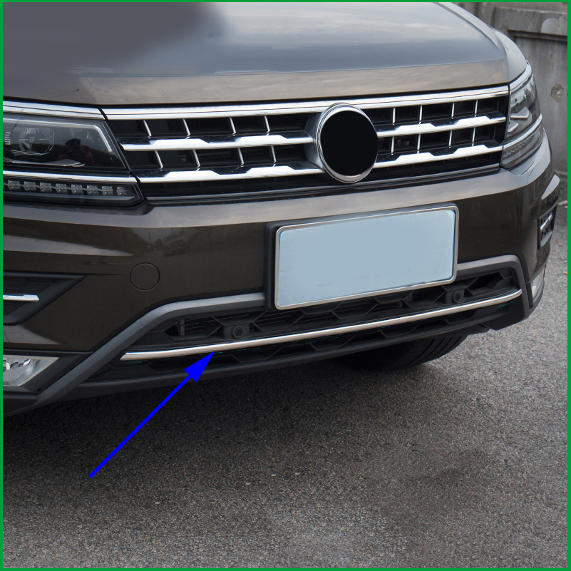 For 2016 2017 2018 VW Tiguan mk2 America version allspace off-load version Front Bottom Bumper Molding racing grill Cover Trim