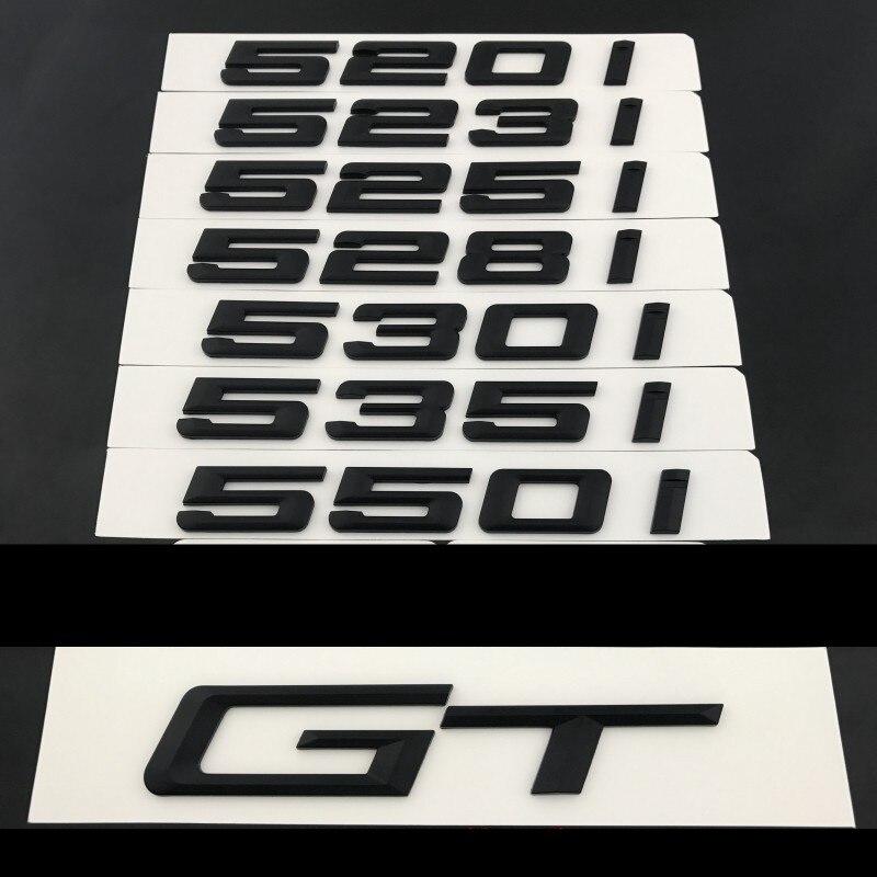 3D Abs Матовый Черный ABS цифры, буквы, Эмблема для багажника автомобиля, Эмблема для BMW 5 серии 520i 523i 525i 528i 550i GT, значки