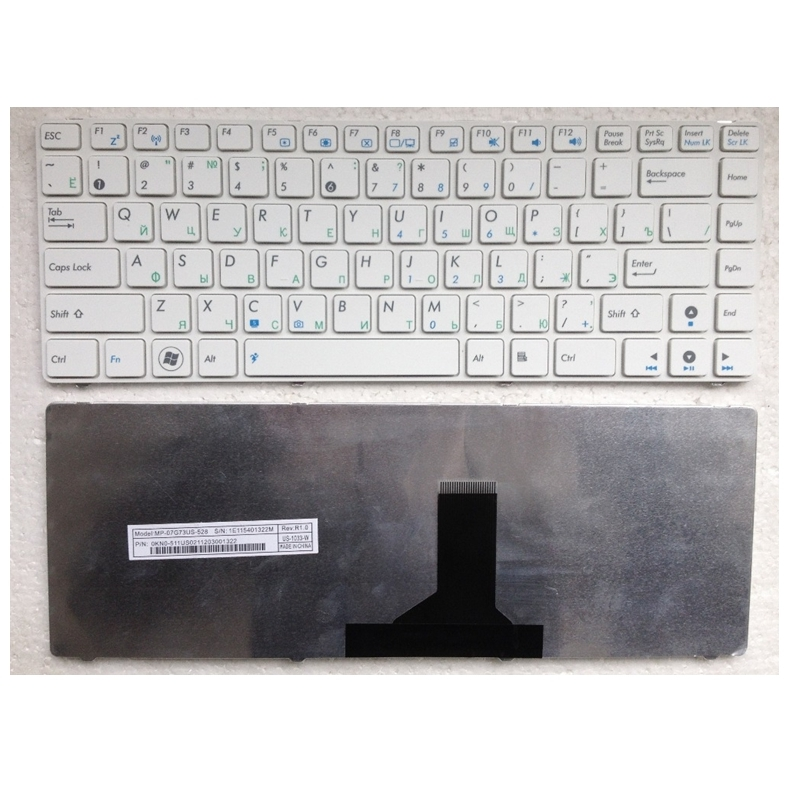 RU White New FOR ASUS P43E P43S N43E N43EI U30 U30JC K43E K43SA U80 U81 UL80 U80V U80E U82 U82U Laptop Keyboard Russian