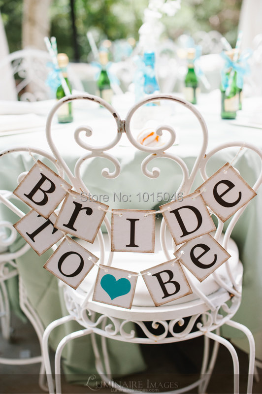 Free Shipping 1 X Gold Side BRIDE TO BE Garland Wedding Bunting Banner Chair Sign Bridal Shower Party Decorations-in Banners Streamers u0026 Confetti from Home ... & Free Shipping 1 X Gold Side BRIDE TO BE Garland Wedding Bunting ...