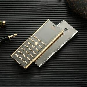 Image 1 - 高級メタルボディデュアル sim キー携帯電話 cectdigi V01 スモールミニカード 2 グラム GSM シニアバーロシアキーボード薄型携帯電話