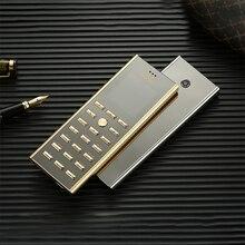 יוקרה מתכת גוף כפולה ה sim מפתח טלפון סלולרי cectdigi V01 קטן מיני כרטיס 2G GSM בכיר בר רוסית מקלדת דק נייד טלפון