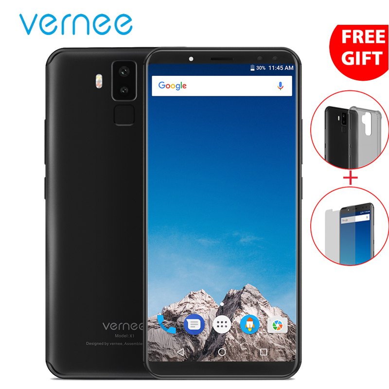 Vernee X1 18:9 Smartphone 6 Inch Face ID 6200mAh 6G 64GB Octa Core Android 7.1 16MP 2160x1080 4G LTE Mobile Cell Phone 4 Cameras