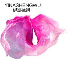 Belly Dance Props Women Silk Veils Veil For Girls rose+light rose+pink