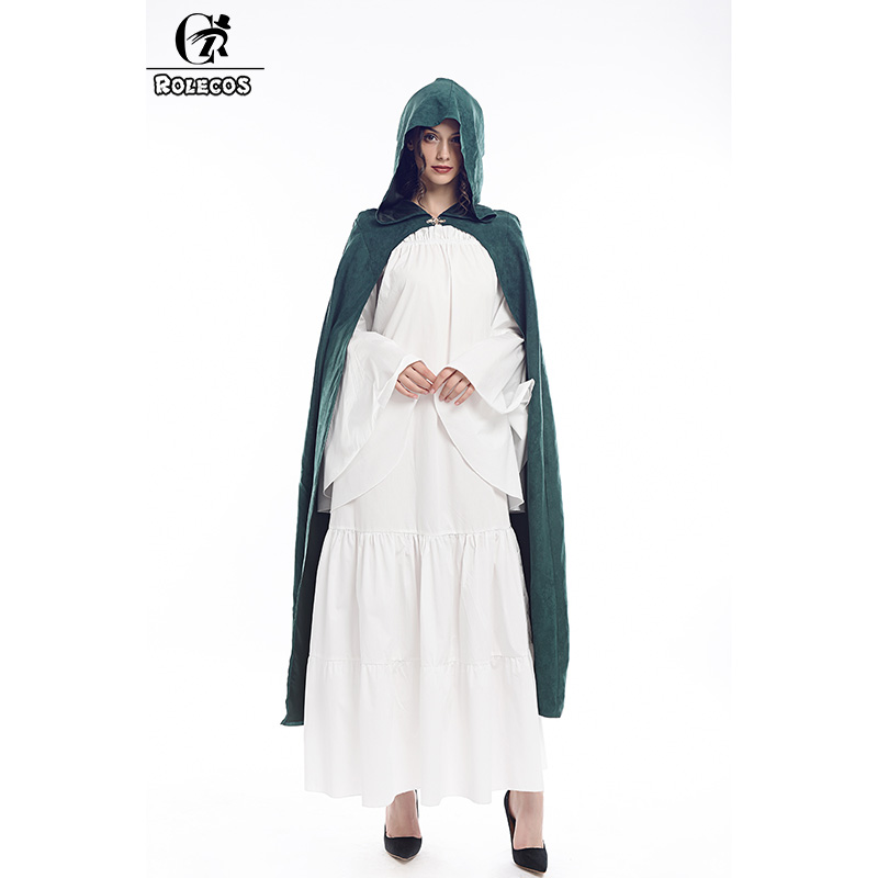 ROLECOS Long Hooded Cloak Medieval Robe Cosplay Costume Comfort Cape Fancy Dress Halloween Costume for Men Women Wrap Party