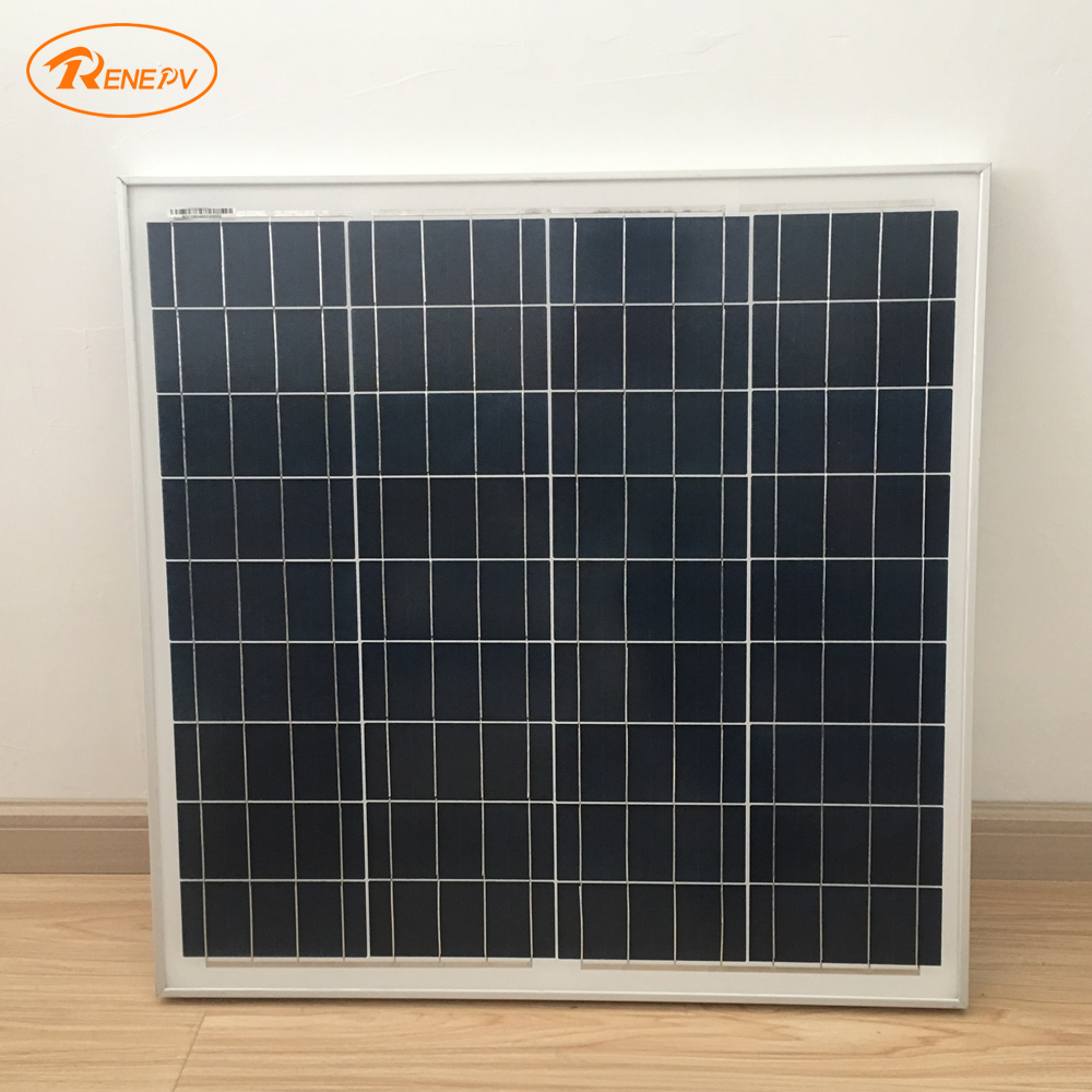 Renepv 60W Polycrystalline silicon solar panel 18V outdoor charging solar battery RD60TU-18P renepv 20w polycrystalline solar panels 18v for 12v battery power charging kit