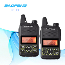 2pcs Mini Walkie Talkie BF-T1 Baofeng Portable CB Ham Radio VHF UHF Kids HF Transceiver Handheld FM BF T1