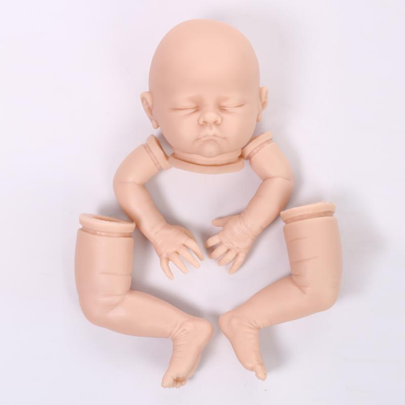 DIY silicone reborn doll kit mold handmade simulation soft doll accessories baby doll kits lifelike sleep doll accessory 20inch baby kits dk 49 silicone reborn baby doll kit for dolls diy model toy lifelike handmade reborn doll kits accessories