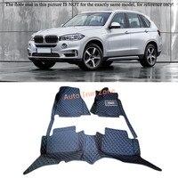 Black Interior Floor Mats & Carpets For BMW X5 F15 5 Seat Model 2014 2016