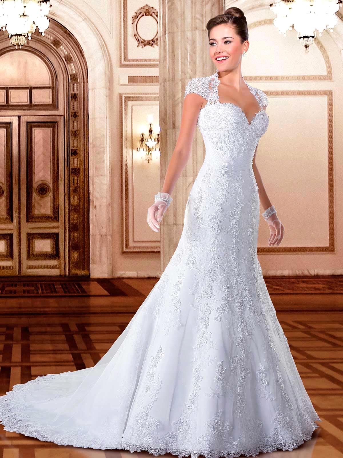 Aliexpress.com : Buy Vestidos De Noiva Custom Made Cap Sleeves Lace ...